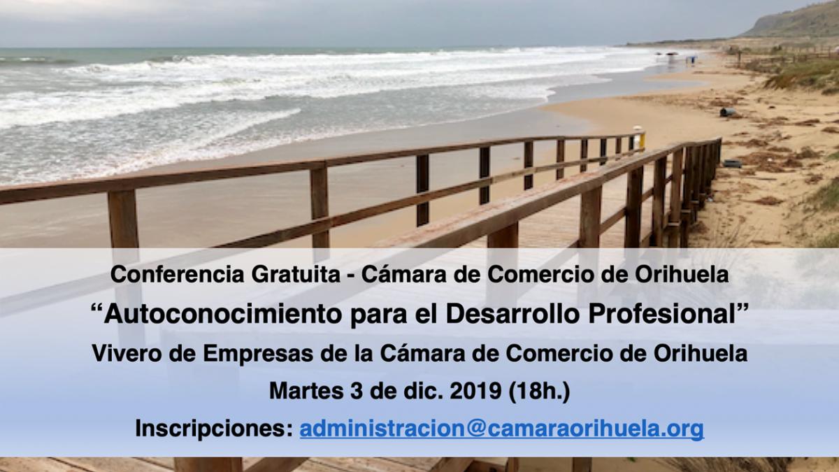 conferencia de autoconocimiento en Cámara Orihuela